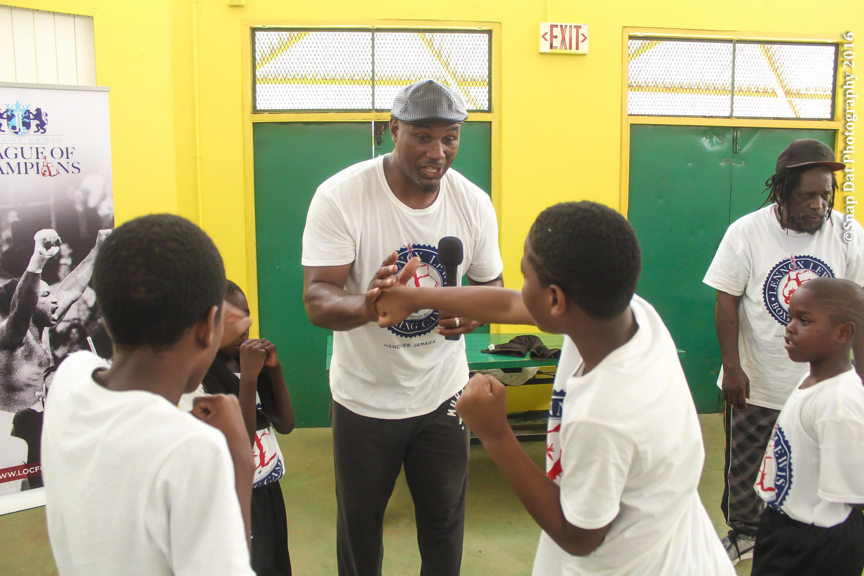 Lennox Lewis Boxing Camp Hanover Jamaica July 2016